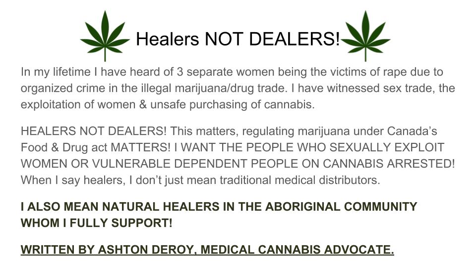 Healers NOT DEALERS!