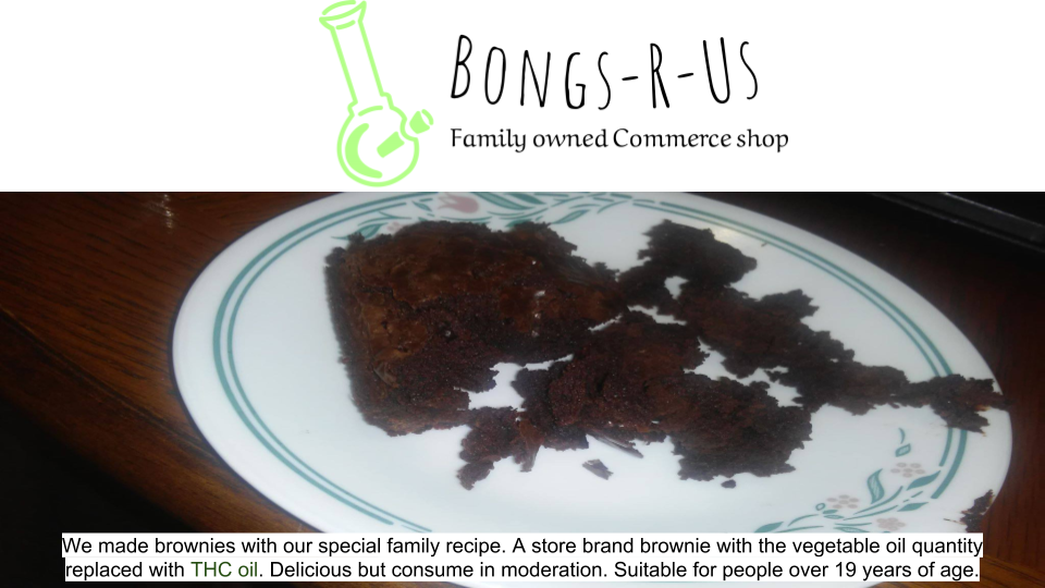 Bongs-R-Us Brownies